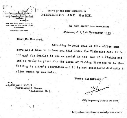 1933 fisheries and game letter