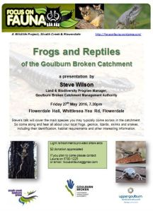 Frogs & reptiles of the GB catchment